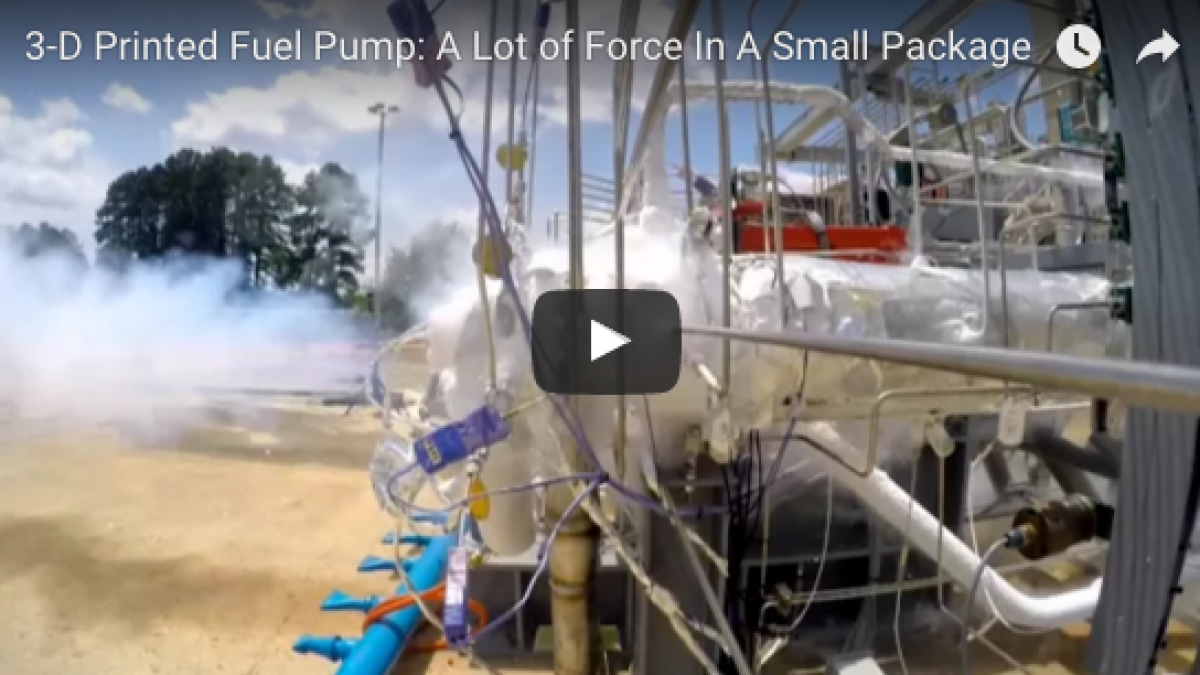 NASA 3D Printed Fuel Pump