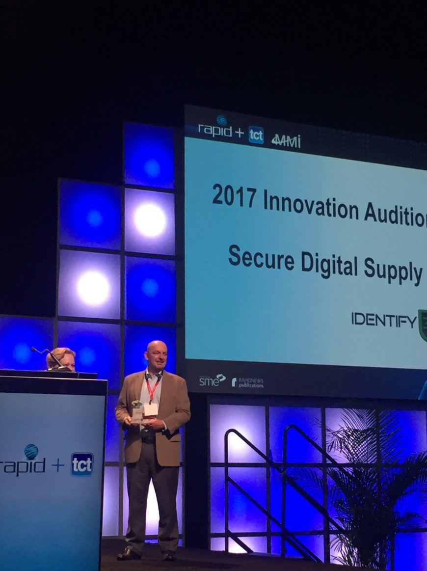Identify3D Wins RAPID + TCT Innovation Auditions